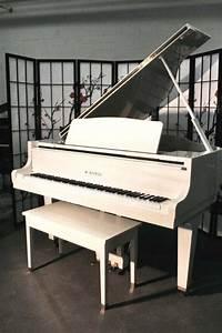 White Gloss Kawai GE1 Baby Grand Piano 1988 7500 Art