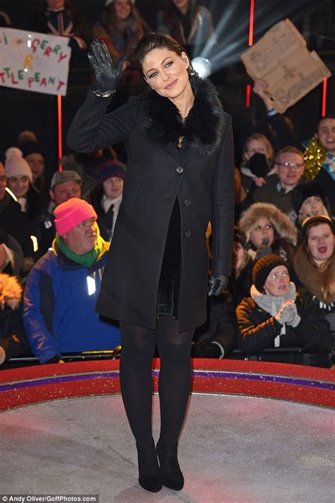 pregnant emma willis wraps up her growing bump in fur trim