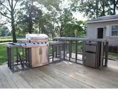 Outdoor Kitchen Plans by Outdoor Kitchen Plans Diy Backyard Pinterest Wood Deck Designs Modular