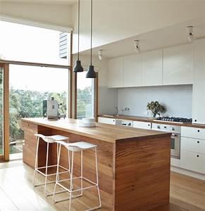 7, Sleek, Waterfall, Island, Ideas, To, Inspire, Your, Kitchen, Renovation
