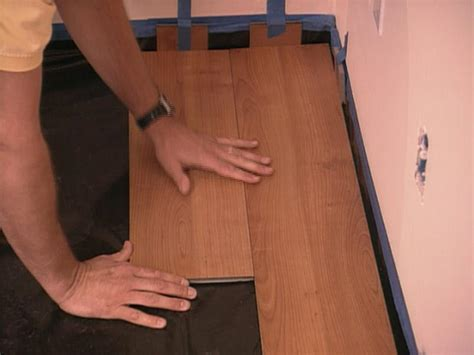 Not Staggering Laminate Flooring by How To Install Snap Together Laminate Flooring Hgtv