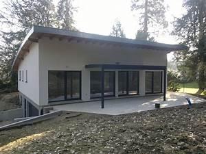 Maison Ossature Bois Toit Plat : maison bois toit plat terrasse en ossature ecologique 1 ~ Melissatoandfro.com Idées de Décoration