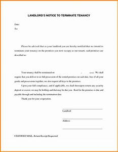7 landlord termination of lease letter ledger paper With landlord termination of lease letter template