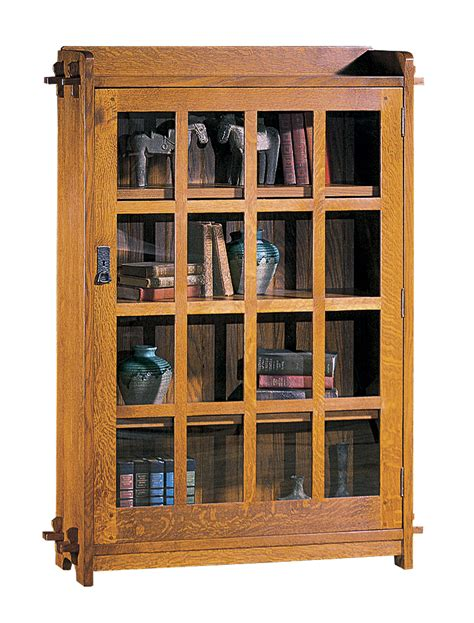 Single Shelf Bookshelf by Single Bookcase With Glass Door Mission Collection