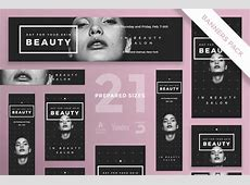 Your Skin Beauty Web Banners in all Sizes Free PSD File