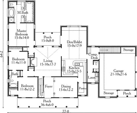 southern style house plan  beds  baths  sqft plan