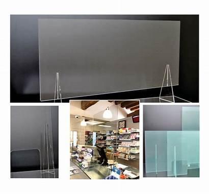 Ufficio Plexiglass Protettiva Barriera Reception