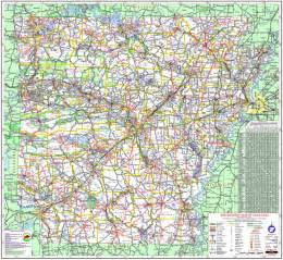 Arkansas State Highway Map
