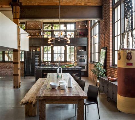 table cuisine style industriel cuisine indus style industriel à san francisco déco