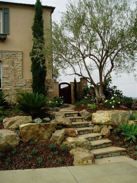 tuscan landscape ideas modern tuscan dramatic pool outdoor living room mediterranean landscape san diego by