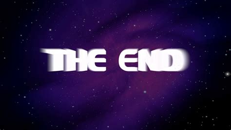 The End Animated Png Transparent The End Animatedpng