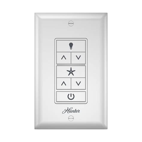 wall mount fan with remote control shop hunter white wall mount universal ceiling fan remote
