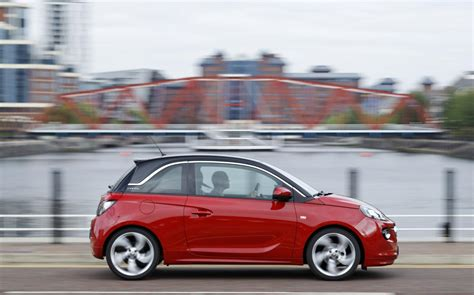 vauxhall red vauxhall adam 2013 red n roll profile front seat driver