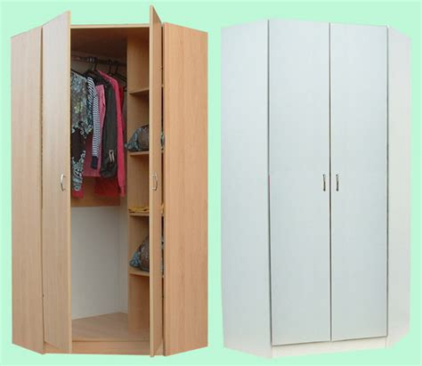 Corner Wardrobe by Junita 2 Door Corner Wardrobe M2090 Beech White