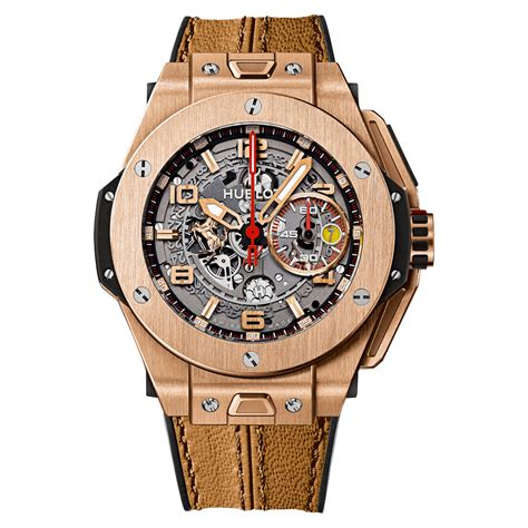 Hublot and ferrari have since collaborated to form an exclusive partnership between the two luxury power brands. Hublot Big Bang Ferrari King 401.OX.0123.VR Gold Watch | World's Best