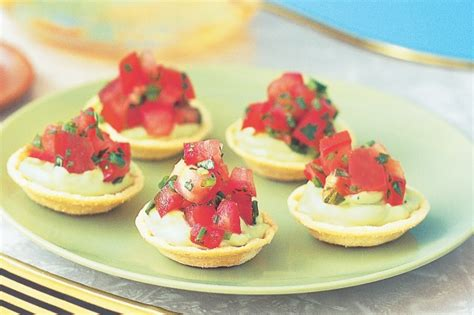 easy cheap canapes avocado canape cups with tomato salsa recipe