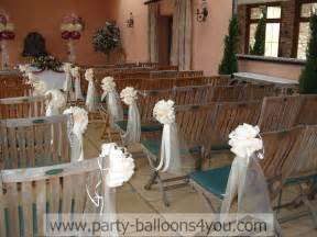 decoration eglise mariage wedding balloons fresh silk flowers pew end bows chair cover hire my