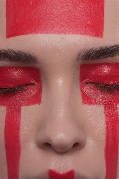 Woman Beauty Makeup Futuristic Anastasia Stripes Tribal