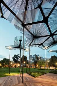 gallery of amanda levete39s mpavilion opens in melbourne 5 With outdoor lighting tree canopy
