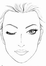Face Charts Chart Faces Makeup Blank Female Paper Mac Google Template Sheet Print Diagram Eyes Eye Closed Coloring Skin Empty sketch template