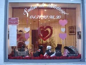 Vitrine Saint Valentin : la vitrine sp ciale saint valentin salon de toilettage canimod ~ Louise-bijoux.com Idées de Décoration