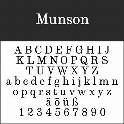 Fonts Munson Magazine Font Century 19th Travel