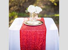 New Arrival Shiny Sequin Table Runners 118 X108 Wedding