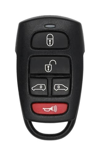To replace the battery in your key fob, pull the latch at the end of the key holder, push your key horizontally into the open slot, and then lift the battery out of the compartment. KIA 95430 4D042 Factory OEM KEY FOB Keyless Entry Remote Alarm Replace
