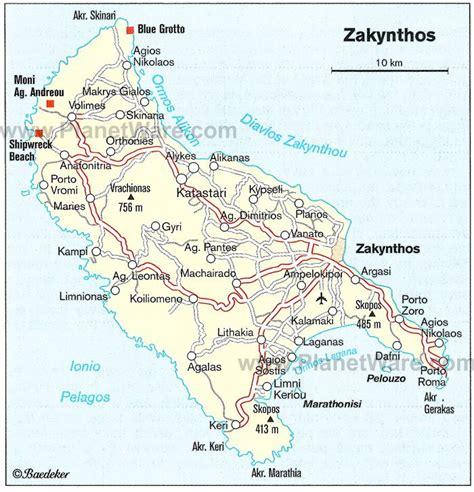 zakynthos map tourist attractions zakynthos