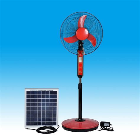 solar powered box fan solar rechargeable fans with led lights 16inch