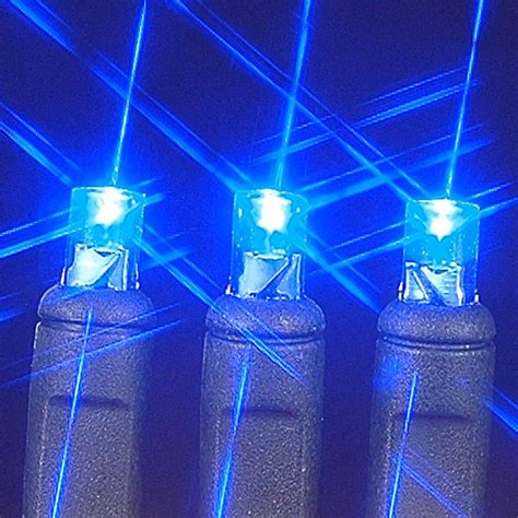 black wire wide angle blue 50 bulb led christmas lights