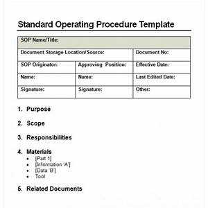 9  Standard Operating Procedure  Sop  Templates