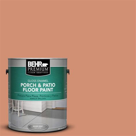 behr premium 1 gal m200 5 terra cotta clay gloss porch