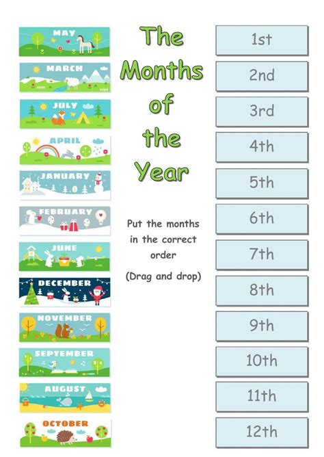 The months of the year - Interactive worksheet | Learn ...