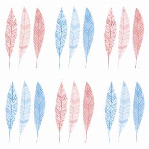 Cute pink and blue feathers for background by esoboleva96 ...