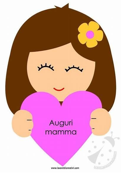 Mamma Festa Della Biglietto Cuore Bambina Lavoretticreativi