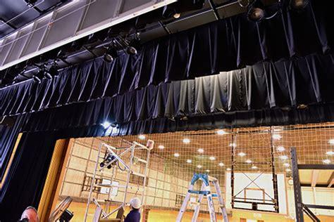 学校の舞台幕クリーニングや補修は和光インテリアにおまかせ