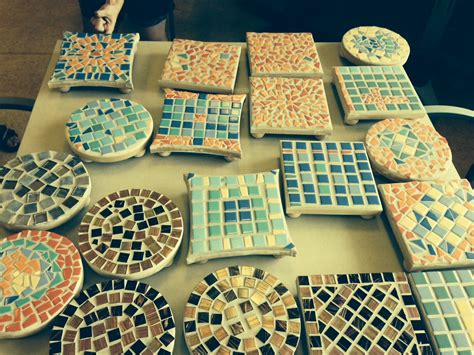 Tile Mosaic Trivets. This Project Was Fun For Seniors And