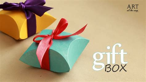 gift box easy diy arts  crafts youtube