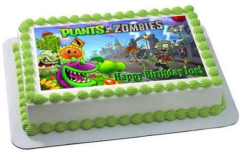 plants  zombies  edible birthday cake  cupcake topper