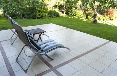install tile   existing concrete patio