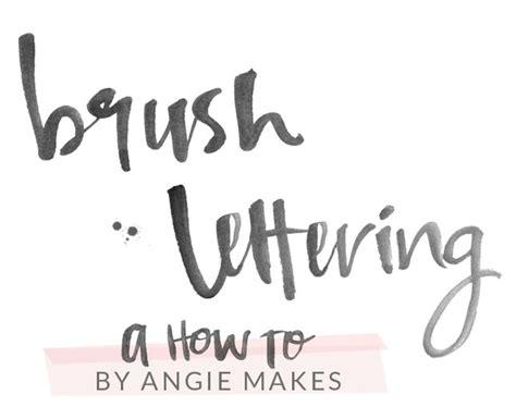 modern brush lettering angie
