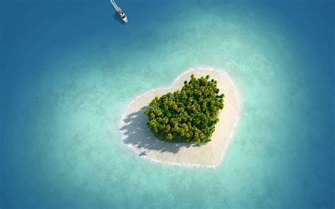 isla corazon wallpaper wallpapers gratis imagenes
