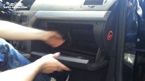 opel astra  tutorial pollen filter replacement youtube