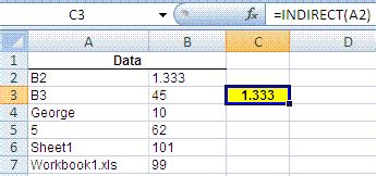 excel reference  sheet  formula indirect