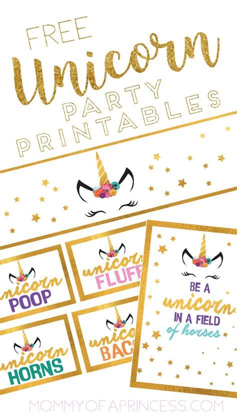 unicorn birthday ideas with free printable unicorn