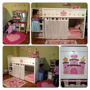 My ikea bed hack girls room makeover girls room ideas for Girls room ikea