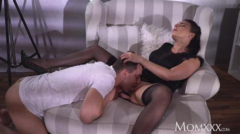 Stepmom Busty Sexy French Milf In Black Stockings