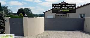 Portail Alu Coulissant 4m : portail design coulissant aluminium prix direct usine ~ Dailycaller-alerts.com Idées de Décoration