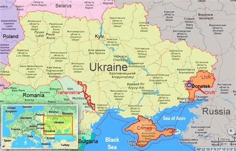 map  ukraine  ordlo crimea  transnistria